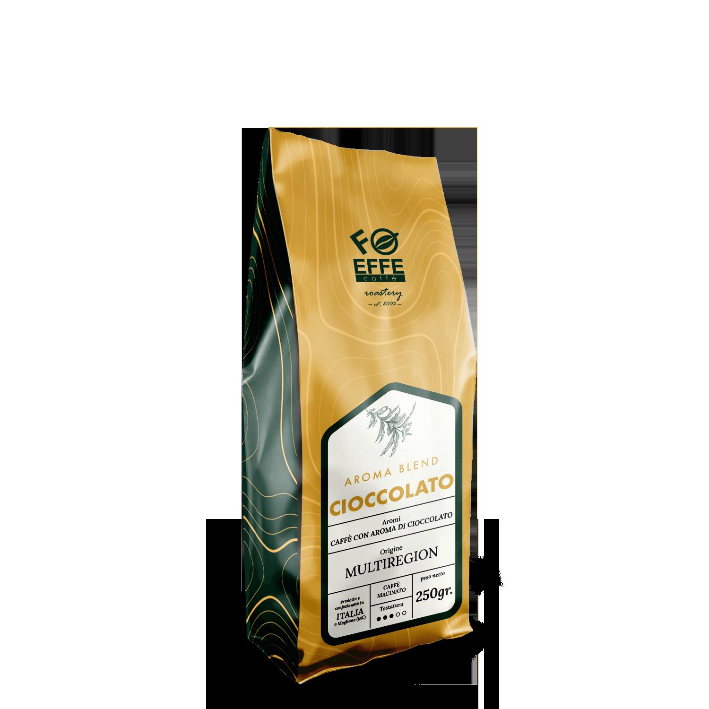 Caffè macinato aromatizzato al cioccolato